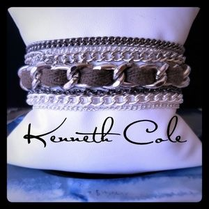 Gorgeous Kenneth Cole Layered SilverTone Bracelet